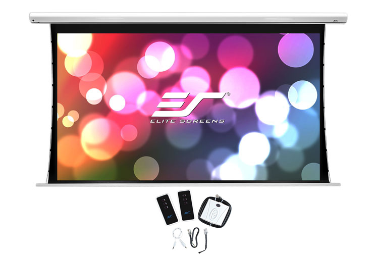 EliteScreen Saker SKT135XHW-E6 elektromosan feszített vetítővászon, 299cm x 168cm
