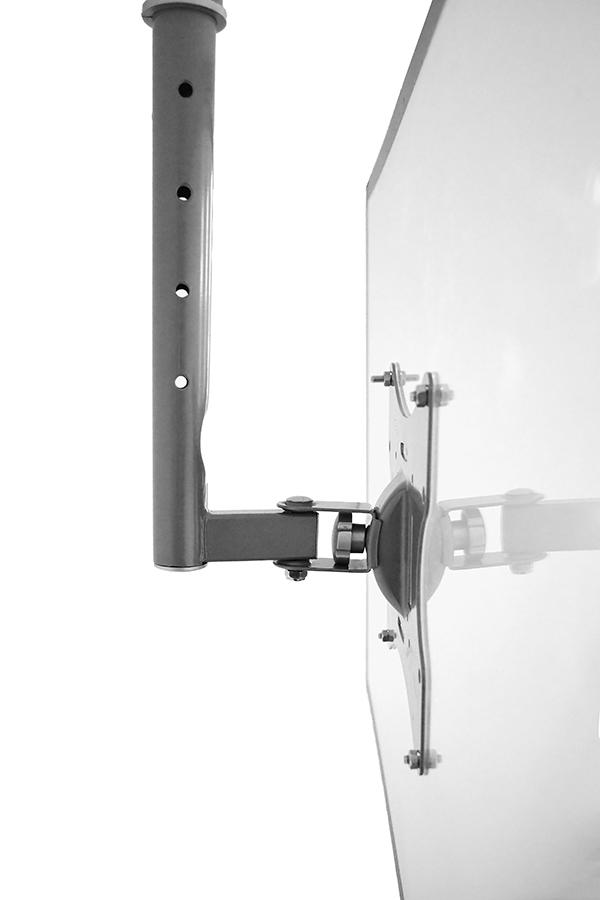 Blackmount S54 SILVER LCD/TV mennyezeti tartó 23''-42'' (58cm-106cm), max. 30 kg, ezüst