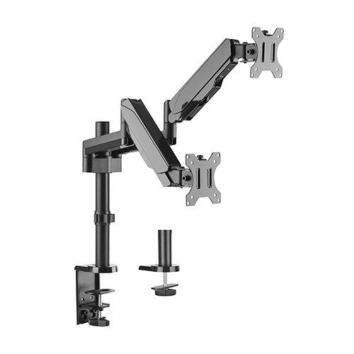 "Blackmount MNT16-2 Gas Spring Dual kétkaros monitortartó, 17""-32"" max 8kg"